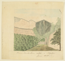 View of the valley and temple at Ahobilam. June 1810
